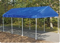 Portable canopy car covers and outdoor carport canopy kits