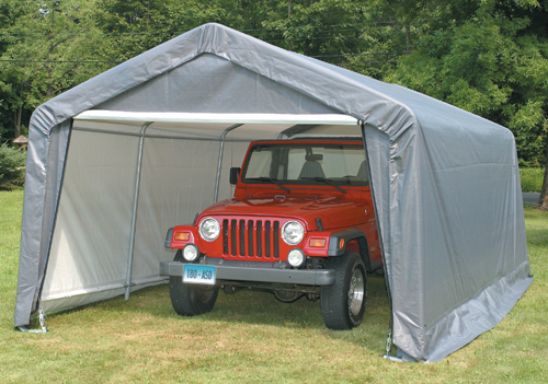 Temporary Construction Garage : Car truck garages portable garage building structures