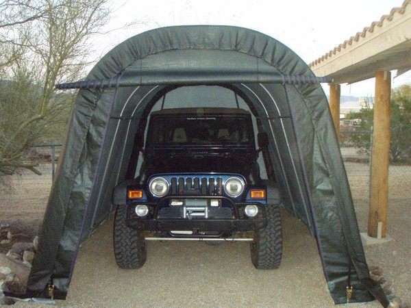 car truck garages portable garage building structures. Black Bedroom Furniture Sets. Home Design Ideas