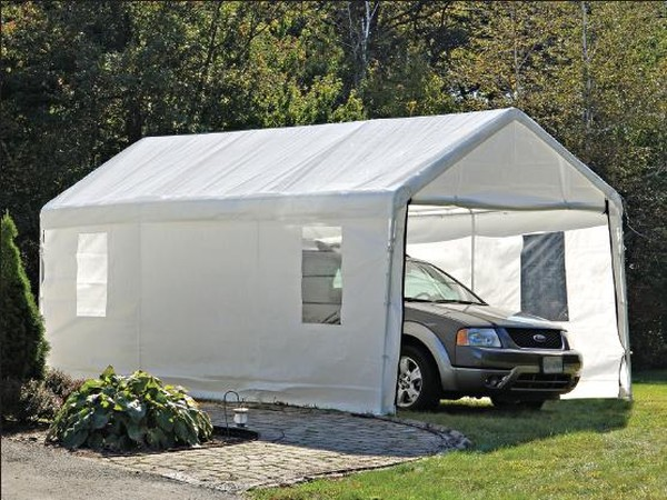 Portable Carports 10 20 : Portable canopy enclosure kits with windows