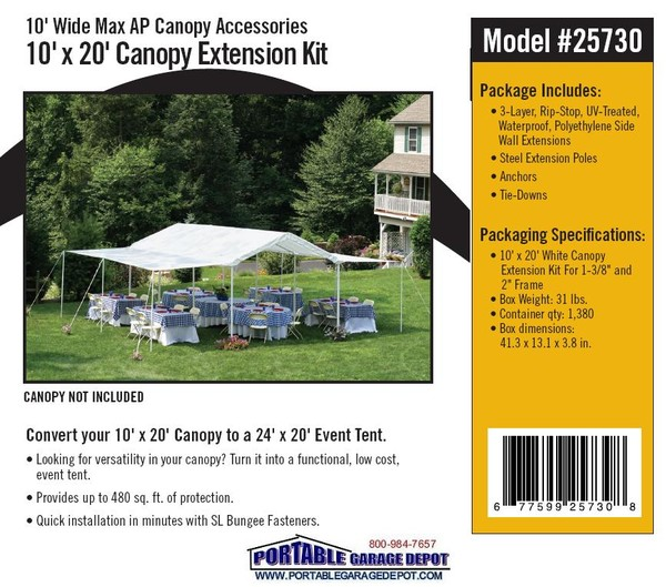 20'L Canopy Extension Kits