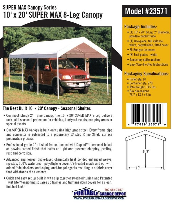 10x20 All Purpose Commercial Canopies