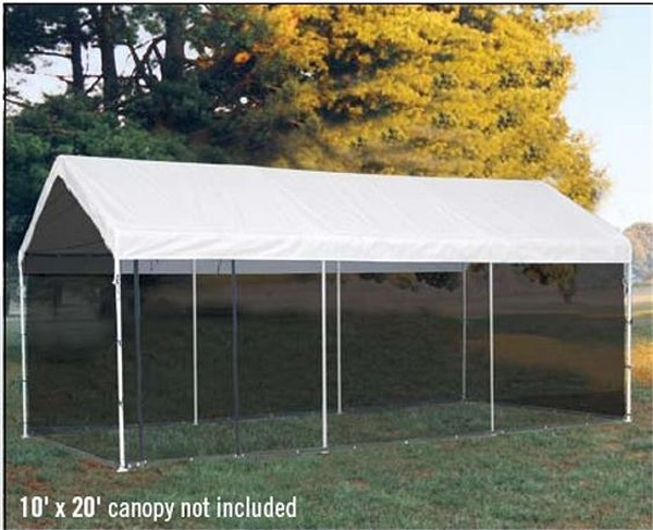 *Picture may be of similar but different size. Click picture for larger view & Screen Enclosure Kit for 10x20 Canopy Shelters