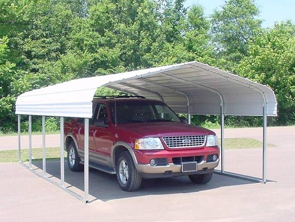 *Picture may be of similar but different style and size. Click picture for larger view & 12u0027 x 12u0027 Metal Carports Metal Carport Canopy Building Covers ...