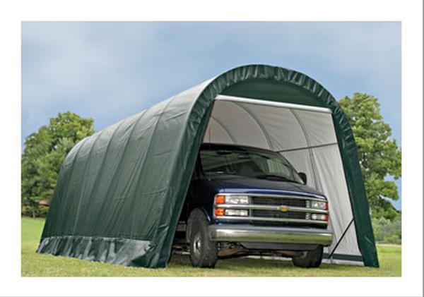 12'Wx20'Lx10'H Round Wind/Snow Rated Portable Garage
