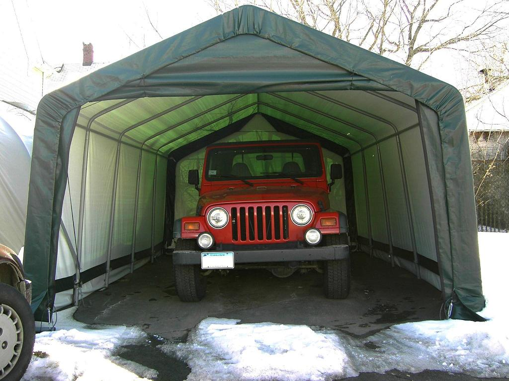 Instant Garage Car Covers : Ft wide portable garages car truck covers instant