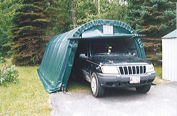 Temporary Snow Shelter For Cars : Lengths available in increments up to  please call