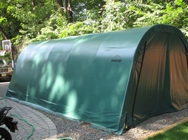 12'Wx20'Lx8'H Round Wind/Snow Rated Portable Garage