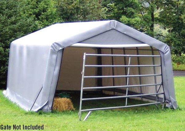 Hay Storage Shelters : Animal shelters run in hay storage horse sheds