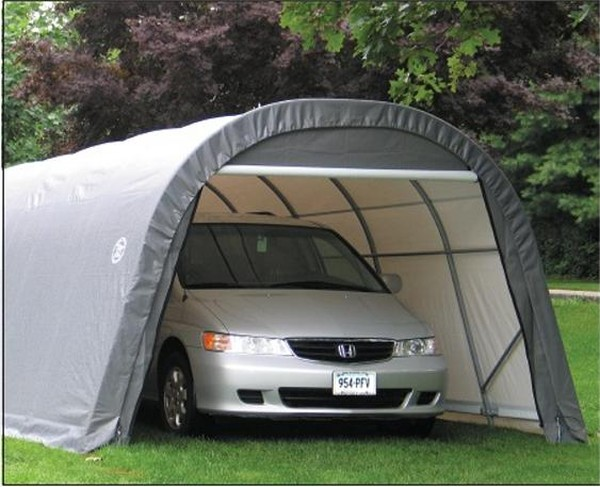 Instant Garage 12 W 24 Lx8 H : Wx h round style portable garage instant