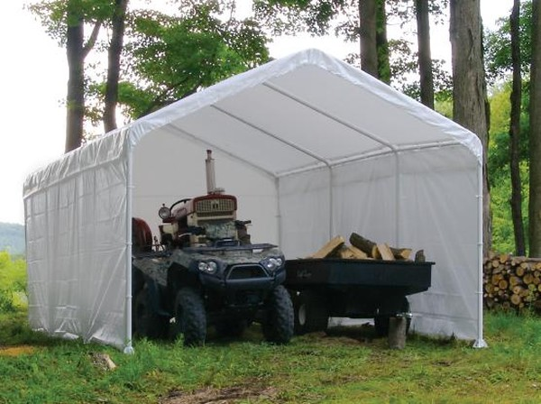 Portable Garage Enclosures : Enclosure kit for commercial canopy