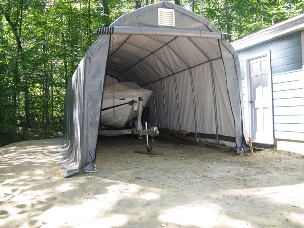 Using A Portable Garage For A Boat