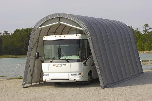 Shelter King Instant Garage : Wx lx h round portable garage