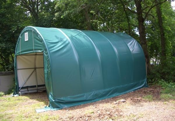 16x8 Round Portable Garages: 16Wx8H Round Car & Truck Shelters