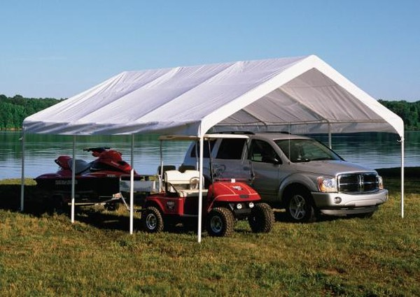 Portable Carport Frames Only : Canopy shelter replacement top