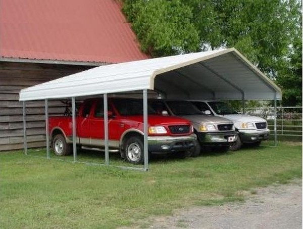 Wide Portable Carports : Ft wide metal carports outdoor garage shelters