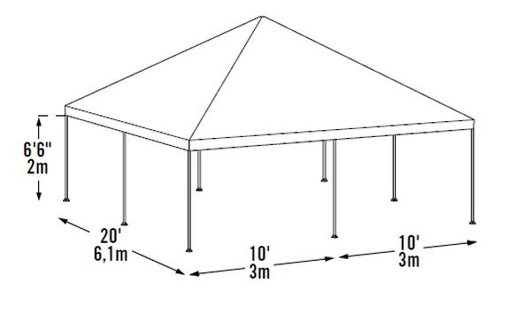 *Picture may be of similar but different size. Click picture for larger view  sc 1 st  Portable Garage Depot & 20x20 Decorative Canopy Shelters