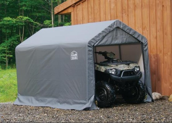 Portable Motorcycle Shelter : Ft wide motorcycle atv polyethylene carport shelters
