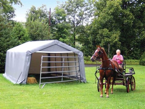 Portable Hay Shelter : Wx lx h hay storage shelter