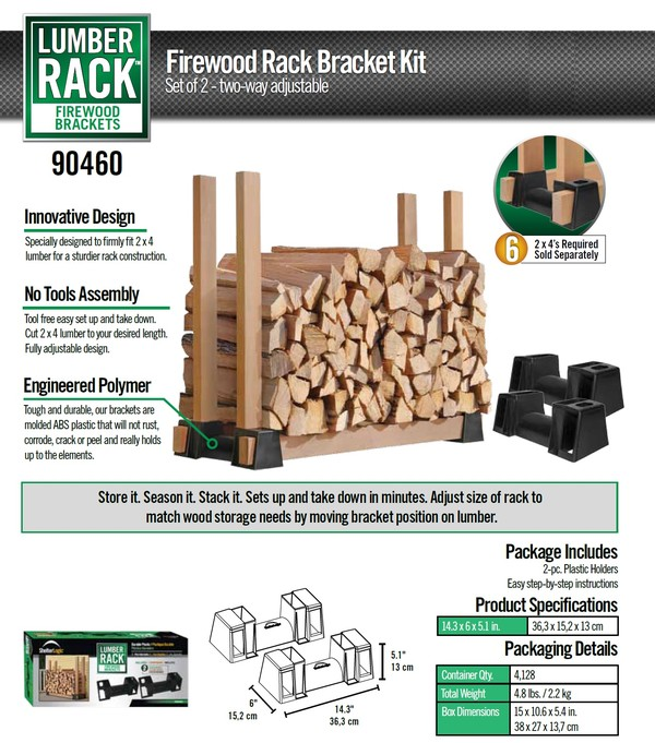 Wood Storage Rack Brackets