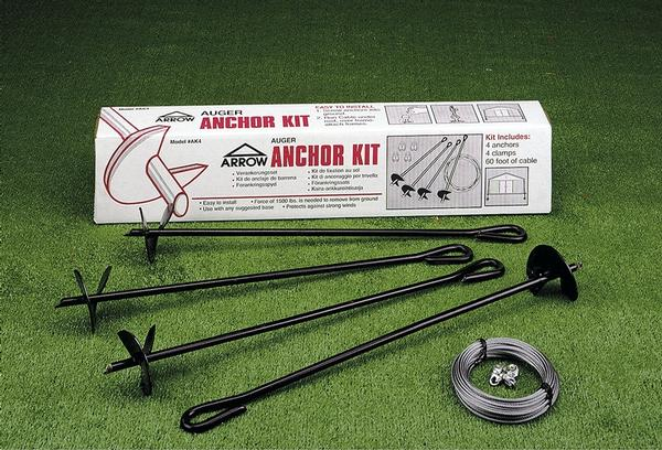 Portable Anchor On A Concrete Garage : Metal shed accessories strengthening anchor kits