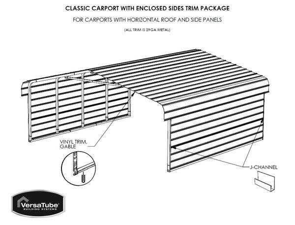 Sheet metal side extension for 3x20 metal carport for Carport detail
