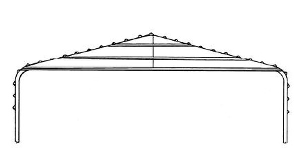 Gable Frame Kit - 12\' Wide Carport
