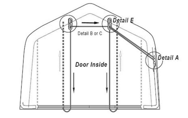 Amazing EZ Roll Up Door Kit