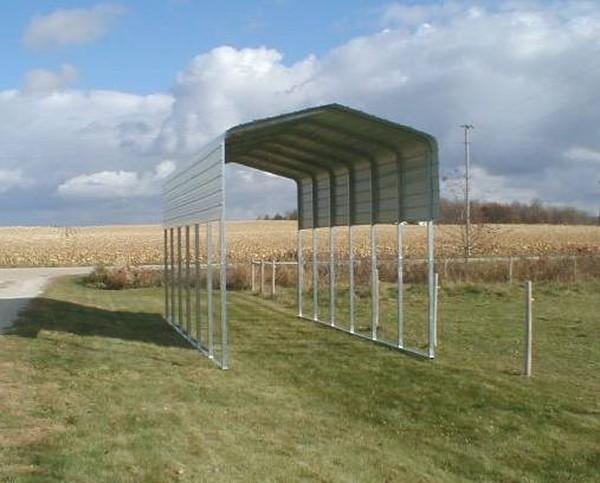 Sheet Metal Side Extension For 29 L Metal Carport 3 Wx29 L