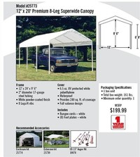 12x20 Commercial Canopies