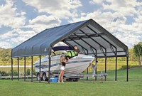 A boat is a practical and fun seasonal vehicle to have. From fishing trips to taking it out on a lake the vehicle is used often during warmer months. & Boat Canopy: Boat Canopy Tops Boat Lift Canopy